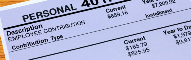 401 statements with amounts from employee contribution and employer matching