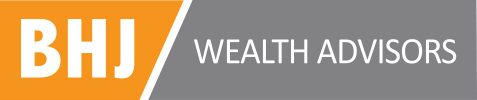 BHJ Wealth Advisors logo in gray and orange
